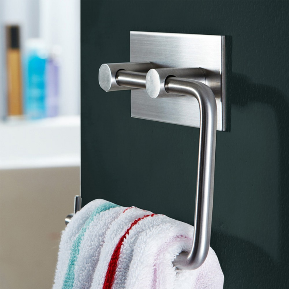 KES Self Adhesive SUS 304 Stainless Steel Toilet Paper Holder Storage  Bathroom Kitchen Paper Towel Dispenser Stick ...
