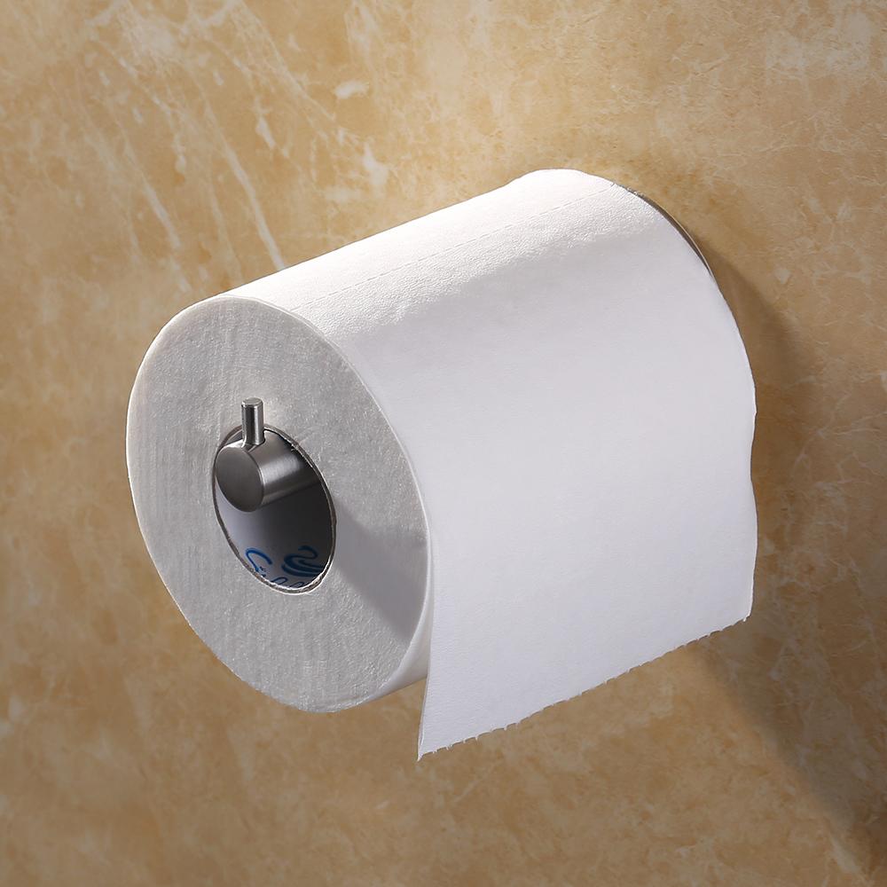 KES Self Adhesive SUS 304 Stainless Steel Toilet Paper Holder Storage  Bathroom Kitchen Paper Towel Dispenser ...