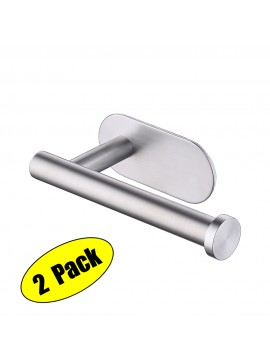 KES Self Adhesive Toilet Paper Towel Holder Tissue Paper Roll Holder RUSTPROOF Stainless Steel Brushed 2 PCS, A7170-2-P2