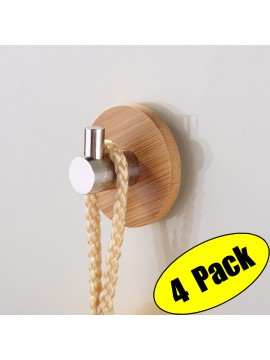 KES Self Adhesive Towel Robe Hook and Self Sitck On Wall Hook Sticky SUS 304 Stainless Steel + Bamboo Finish, A7261-P4/A7261-P8