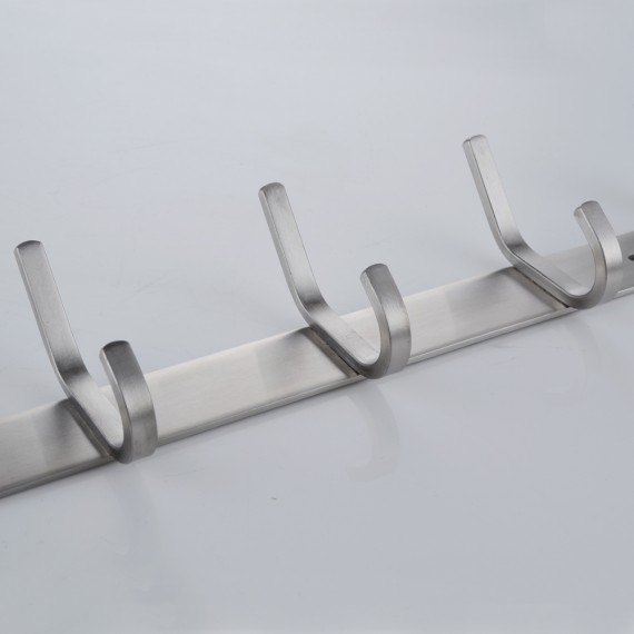 KES Bathroom Towel Rail/Rack with 5 Scroll Hooks Wall Mount SUS304 Stainless Steel, AH203H5-2
