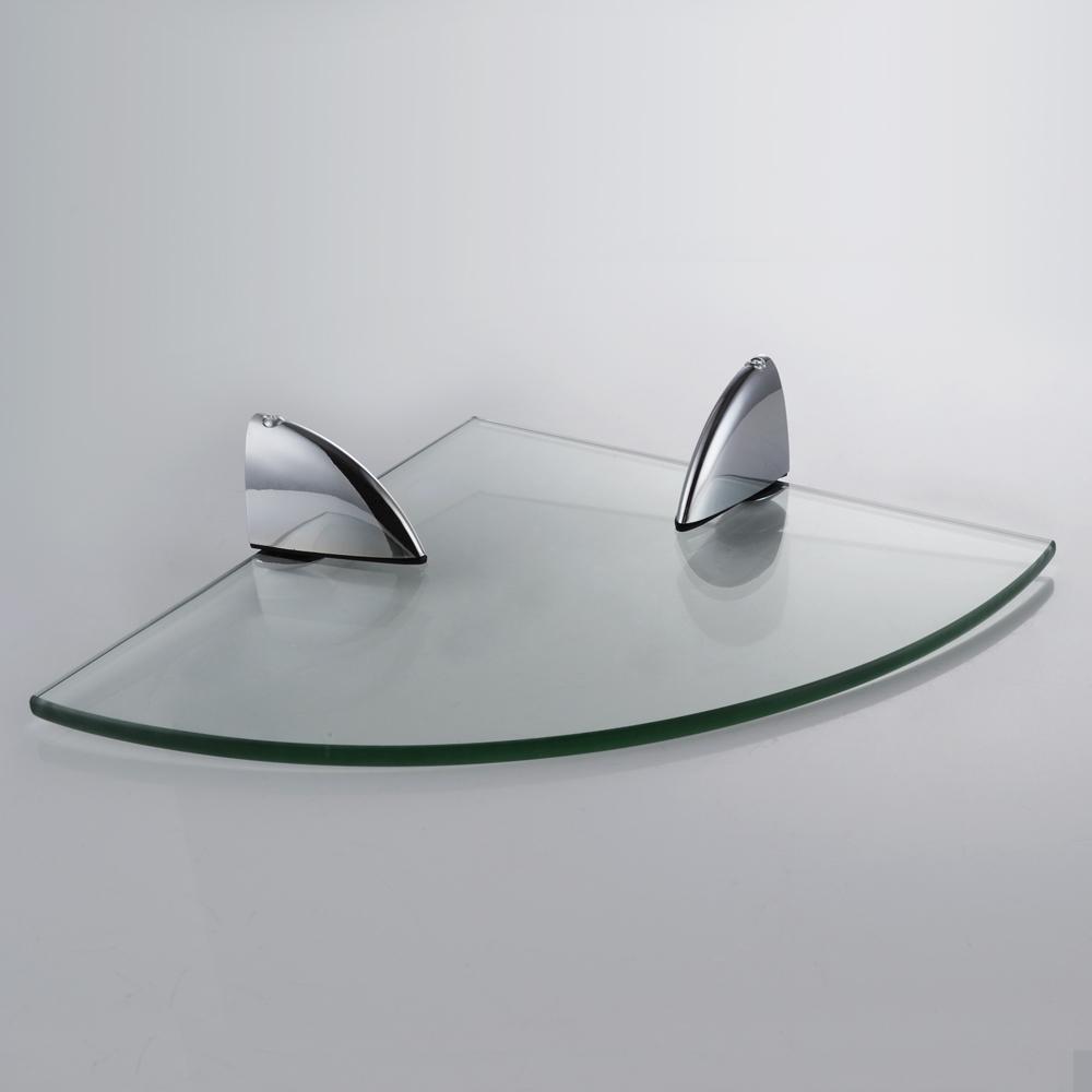 Bathroom corner glass shelf - Kes Bgs3100 Lavatory Bathroom Corner Tempered Glass Shelf 8mm Thick Wall Mount Triangular Polished Chrome