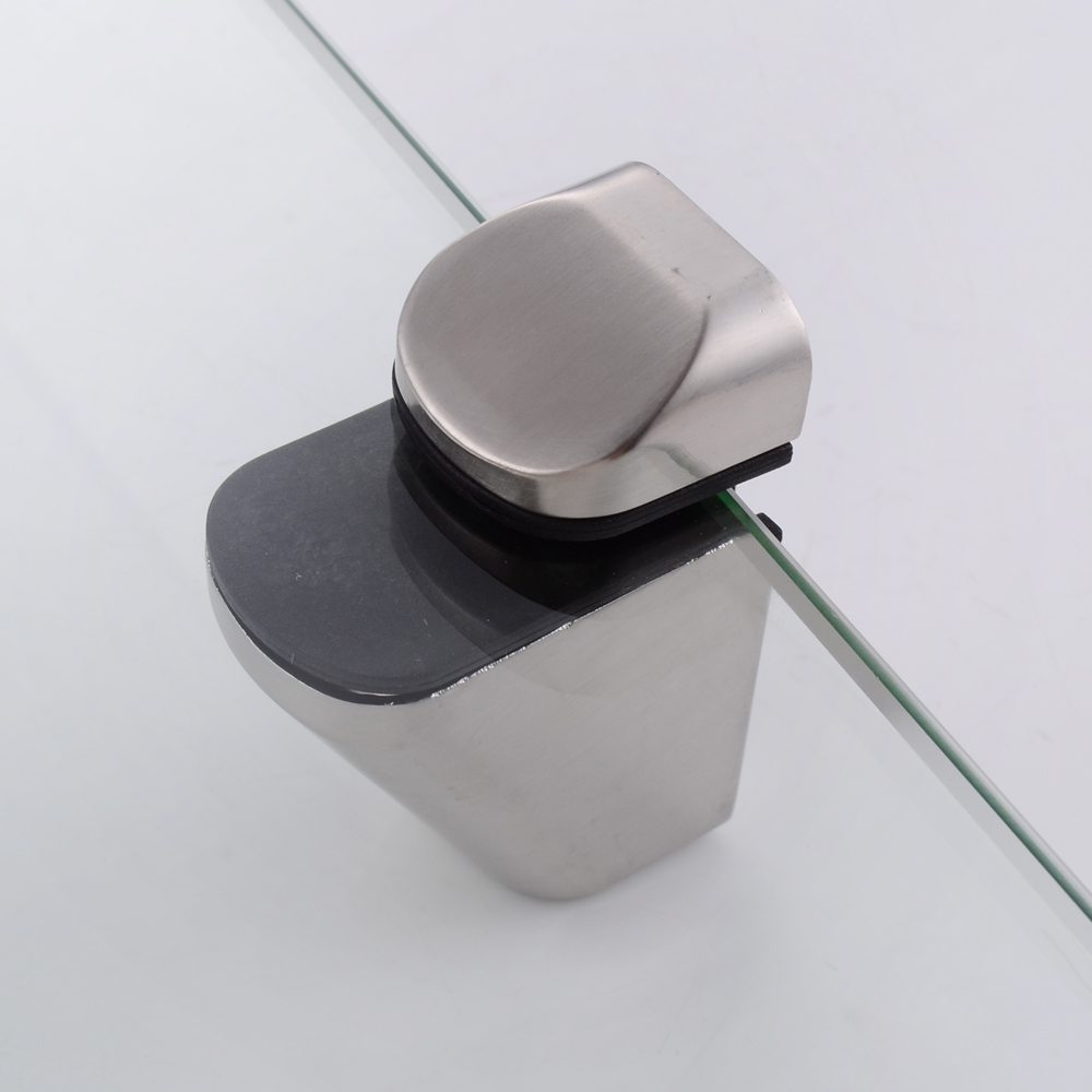 Kes bgs3102 2 lavatory bathroom corner tempered glass Glass bathroom shelf brushed nickel