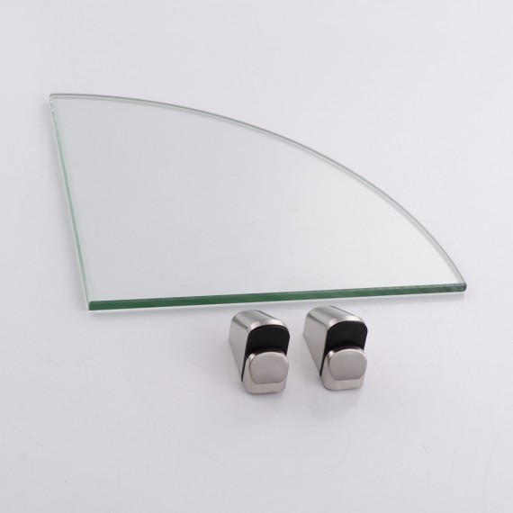 Kes Bgs3102 2 Lavatory Bathroom Corner Tempered Glass