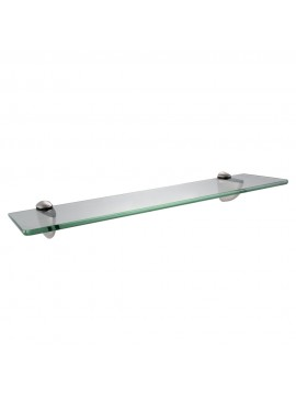 KES BGS3200-2 Lavatory Bathroom Corner Tempered Glass Shelf 8MM-Thick Wall Mount Rectangular, Brushed Nickel