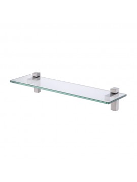 KES Lavatory Bathroom Tempered Glass Shelf 8MM-Thick Wall Mount Rectangular, Polished Chrome/ Brushed Nickel BGS3201/BGS3201-2