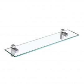 Bathroom 24 Inches Bathroom Glass Shelf Wall Mount, Brushed Nickel Finish BGS3201S60-2