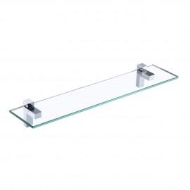 Bathroom Shelf 24 Inch Glass Shelf Wall Mounted Tempered Glass Shelf Polished Chrome Finish, BGS3201S60