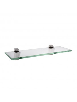 KES 14-Inch Bathroom Tempered Glass Shelf 8MM-Thick Wall Mount Rectangular, Brushed Nickel Bracket, BGS3202S35-2