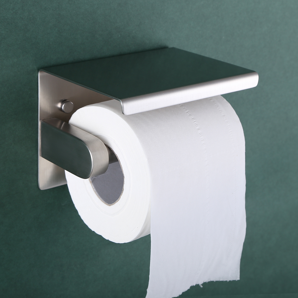 SUS  Stainless Steel Toilet Paper Holder Storage Bathroom -  bathroom paper towel holder