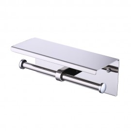 KES SUS 304 Stainless Steel Double Roll Toilet Paper Holder Storage Bathroom Kitchen Dual Paper Towel Dispenser Tissue Roll Hanger Wall Mount, Polished/Brushed Finish, BPH201S2/BPH201S2-2