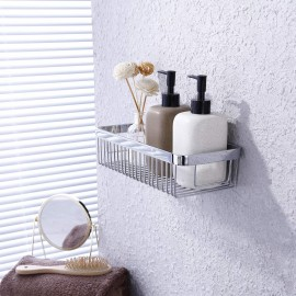 KES Adhesive Bathroom Shower Caddy Basket SUS304 Stainless Steel Shower Shelf Rustproof No Drill Wall Mount Polished Finish, BSC201DF