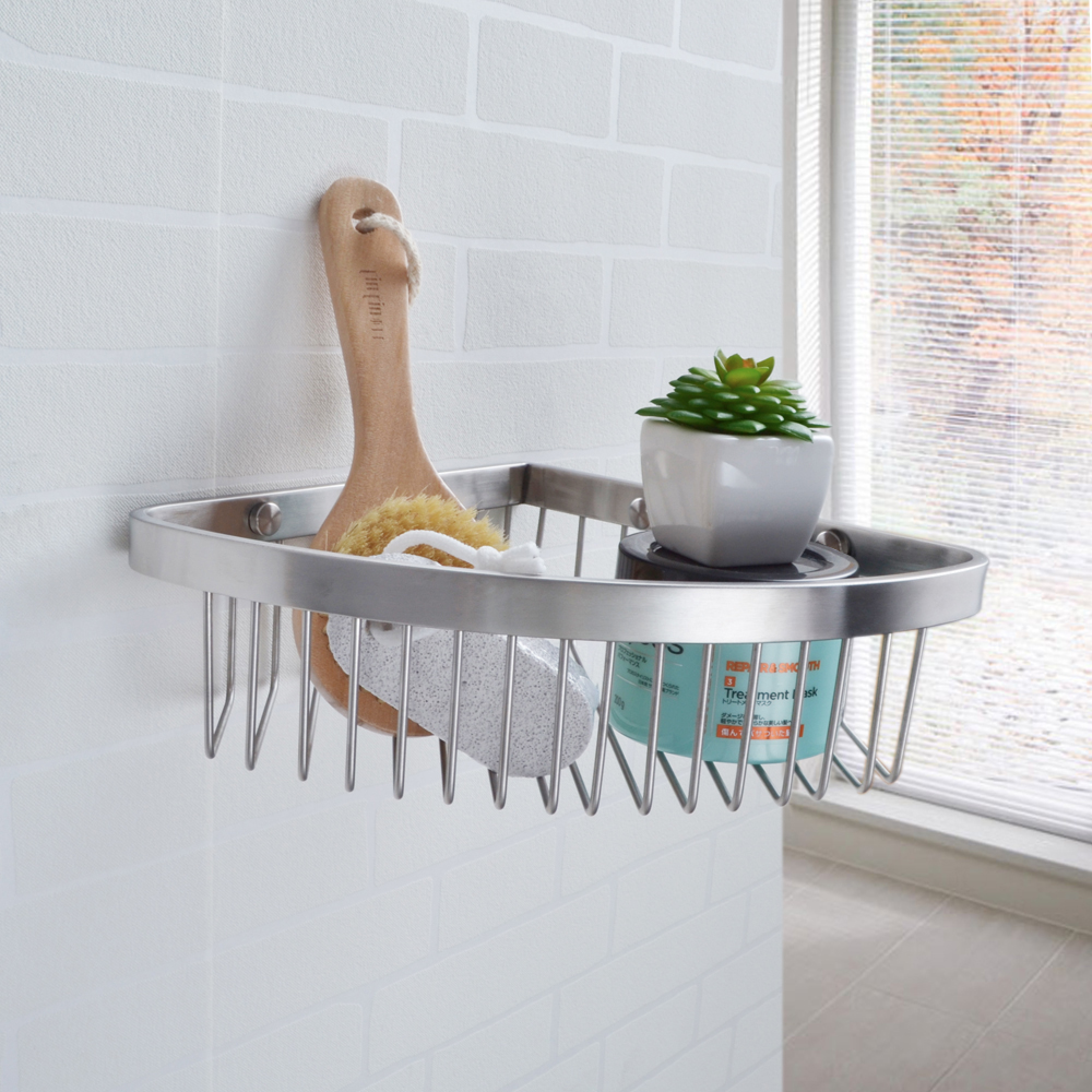 KES SOLID SUS 304 Stainless Steel Bathroom Corner Triangular Tub and ...