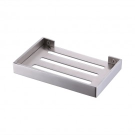 KES SUS 304 Stainless Steel Bathroom Soap Basket Wall Mount Modern Square Style, BSH202-2