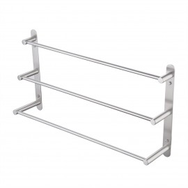 3-Tiers Bath Towel Bar 24-Inch Stainless Steel Bathroom Towel Rack Wall Mount, Brushed Finish, BTH202S60-2