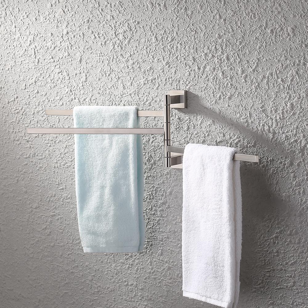 Kes Bath Towel Holder Swing Hand Towel Rack Sus 304 Stainless Steel Bathroom Swivel Towel Bar 3
