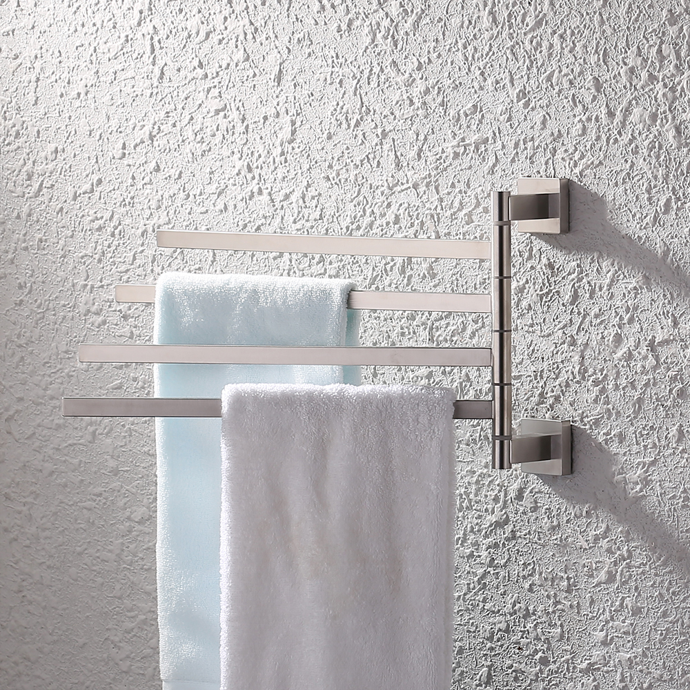 Kes Bath Towel Holder Swing Hand Rack Sus 304 Stainless Steel Bathroom Swivel Bar