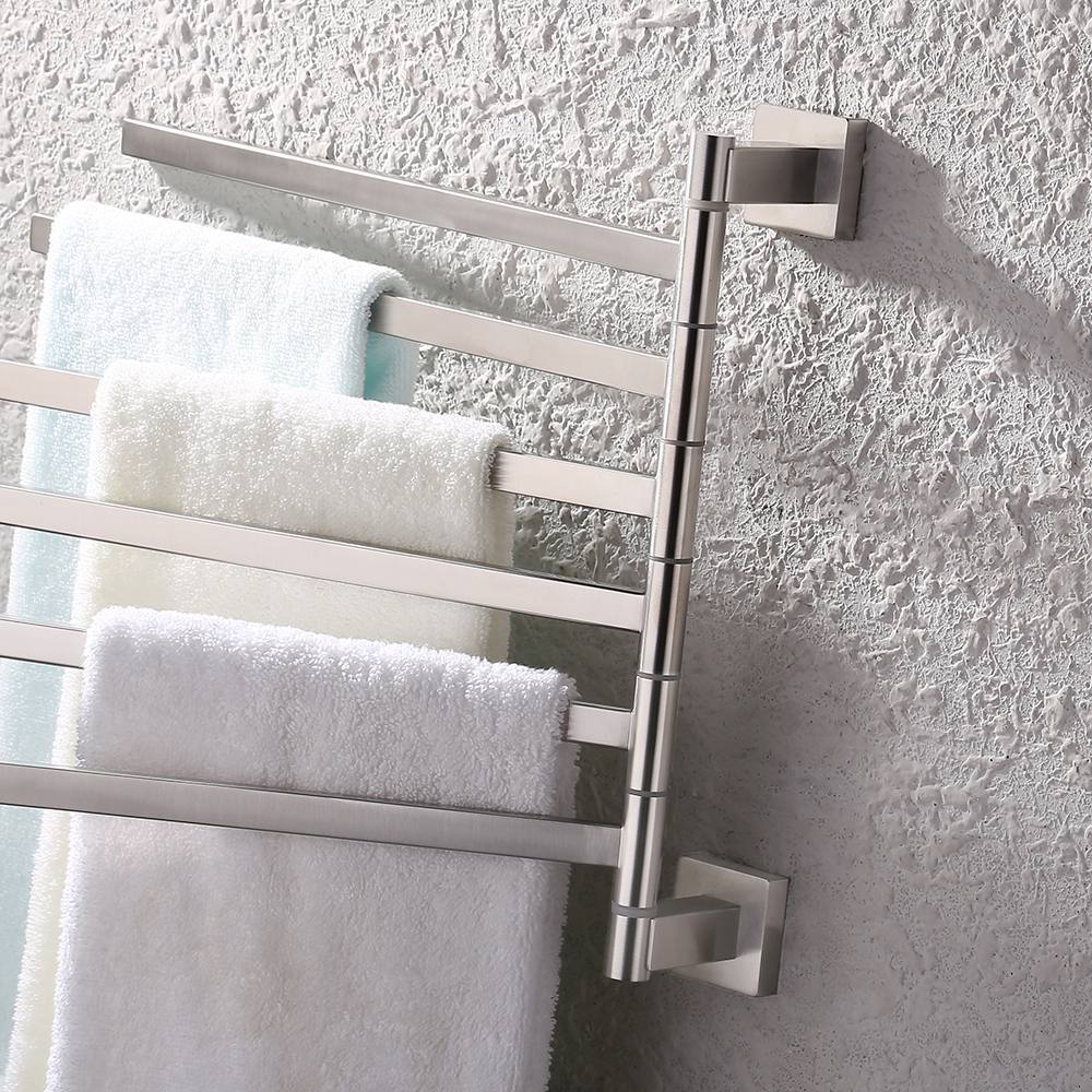 Bath towel holder Primitive Kes Bath Towel Holder Swing Hand Towel Rack Sus 304 Stainless Steel Bathroom Swivel Towel Bar Kes Home Kes Bath Towel Holder Swing Hand Towel Rack Sus 304 Stainless Steel