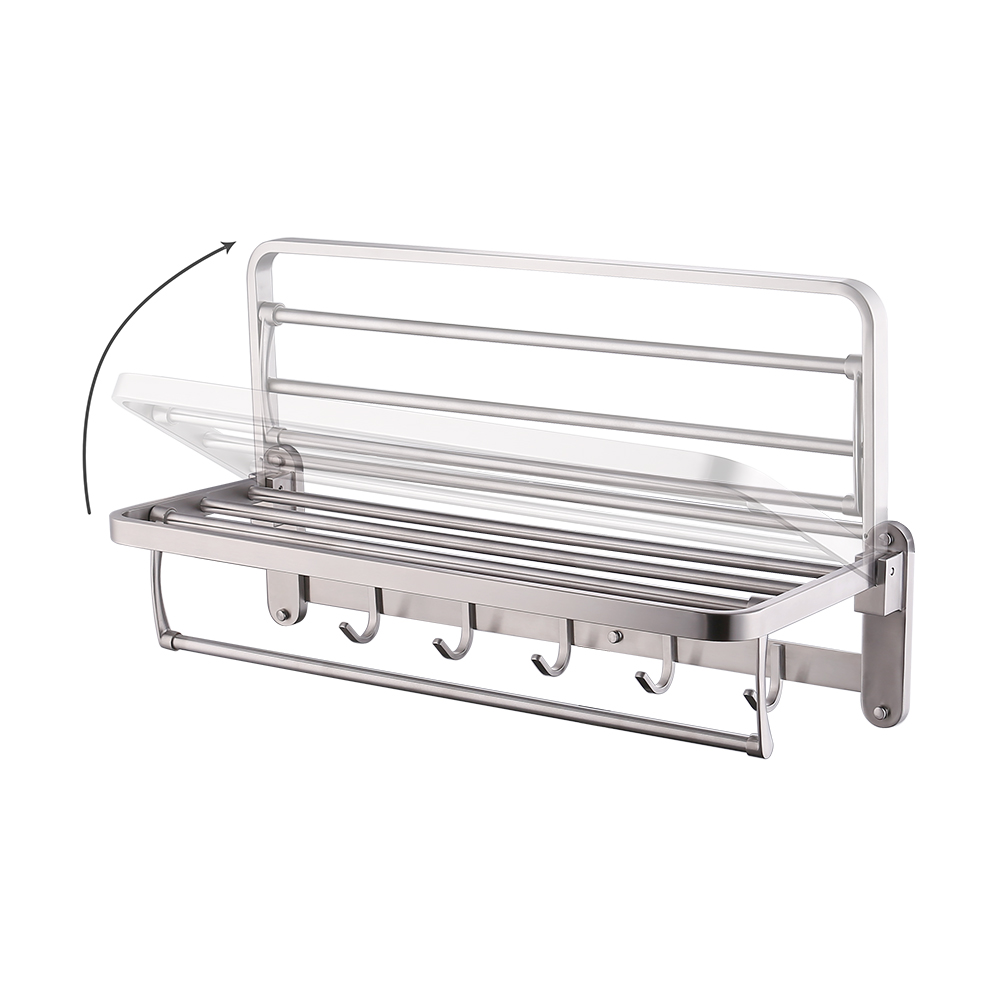 KES SUS 304 Folding Bathroom Shelf Hotel Towel Rack with Swing ...