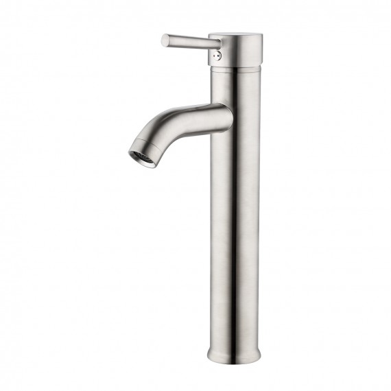 Bathroom Vessel Sink with Faucet and Drain Combo, Brushed Nickel BVS110-C2