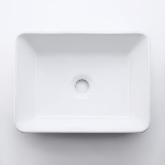 "Bathroom 16""X12"" Rectangle Vessel Sink with Porcelain Ceramic Bowl, White Ceramic BVS110S40"