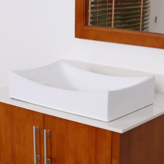 Kes Bathroom Sink Vessel Sink Porcelain 25 Quot Rectangular