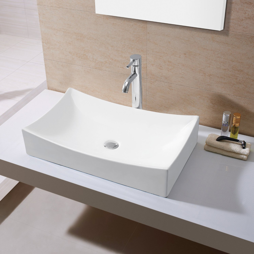 Kes Bathroom Sink Vessel Sink Porcelain 25 Quot Rectangular