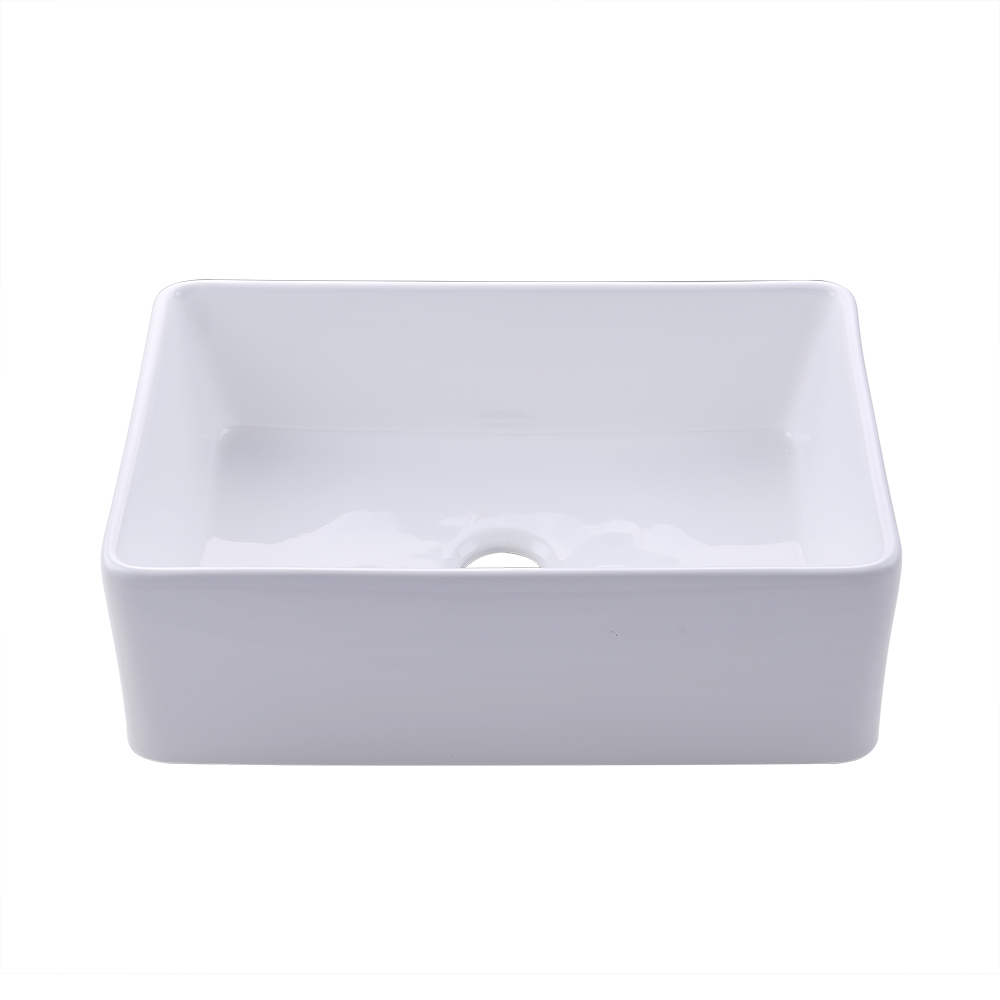 KES Fireclay Sink Farmhouse Kitchen Sink (30 Inch Porcelain ... on kohler fireclay sinks, white undermount bar sinks, single bowl kitchen sinks, elkay fireclay sinks, franke fireclay sinks, rohl sinks, ferguson sinks, square undermount bathroom sinks, stainless steel kitchen sinks,