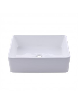 KES Fireclay Sink Farmhouse Kitchen Sink (30 Inch Porcelain Undermount Rectangular White) BVS117