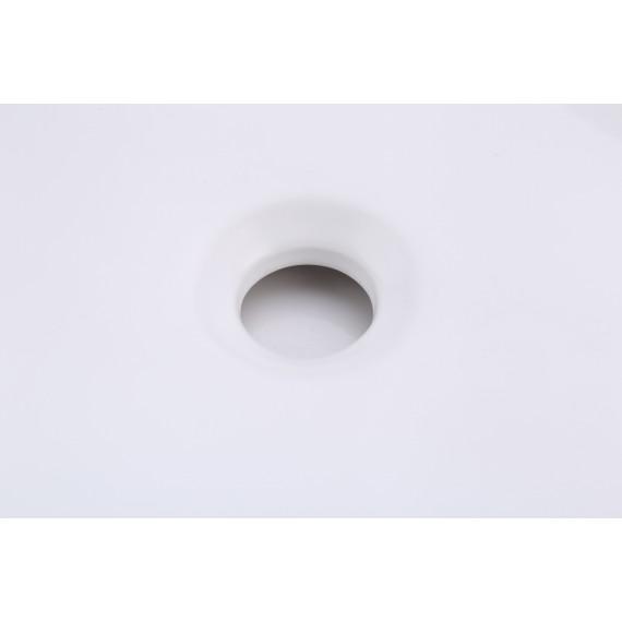 Bathroom Vessel Sink 20 Inch Above Counter Rectangular White Ceramic Countertop Sink for Cabinet Lavatory Vanity, BVS123S50