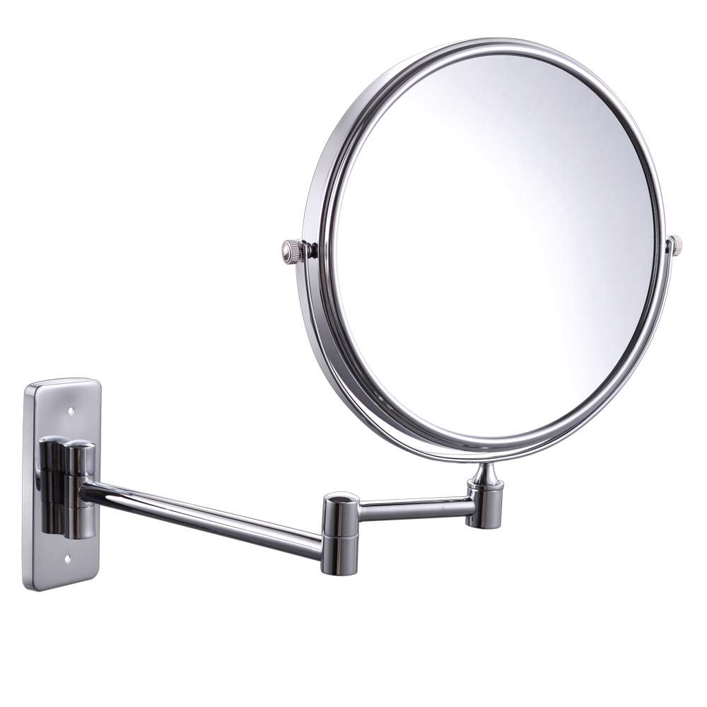 Kes Bwm100te 10x Magnification Two Sided Swivel Wall Mount Mirror 8 Inch Polished Chrome