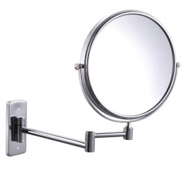 KES BWM100TE 10x Magnification Two-Sided Swivel Wall Mount Mirror 8-Inch, Polished Chrome