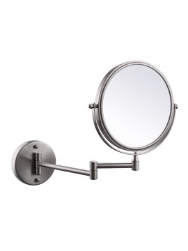 KES SUS304 Stainless Steel Bathroom 3x Magnification Two-Sided Swivel Wall Mount Mirror 8-Inch, Brushed Finish, BWM200M3-2