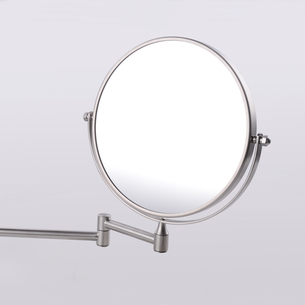 Kes Sus304 Stainless Steel Bathroom 3x Magnification Two Sided Swivel Wall Mount Mirror 8 Inch