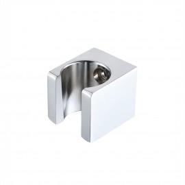 KES All Brass Handheld Shower Head Holder Bracket Wall Mount for Bathroom Hand Sprayer Wand or Toilet Hand Held Bidet Spray Square Chrome, C107-CH