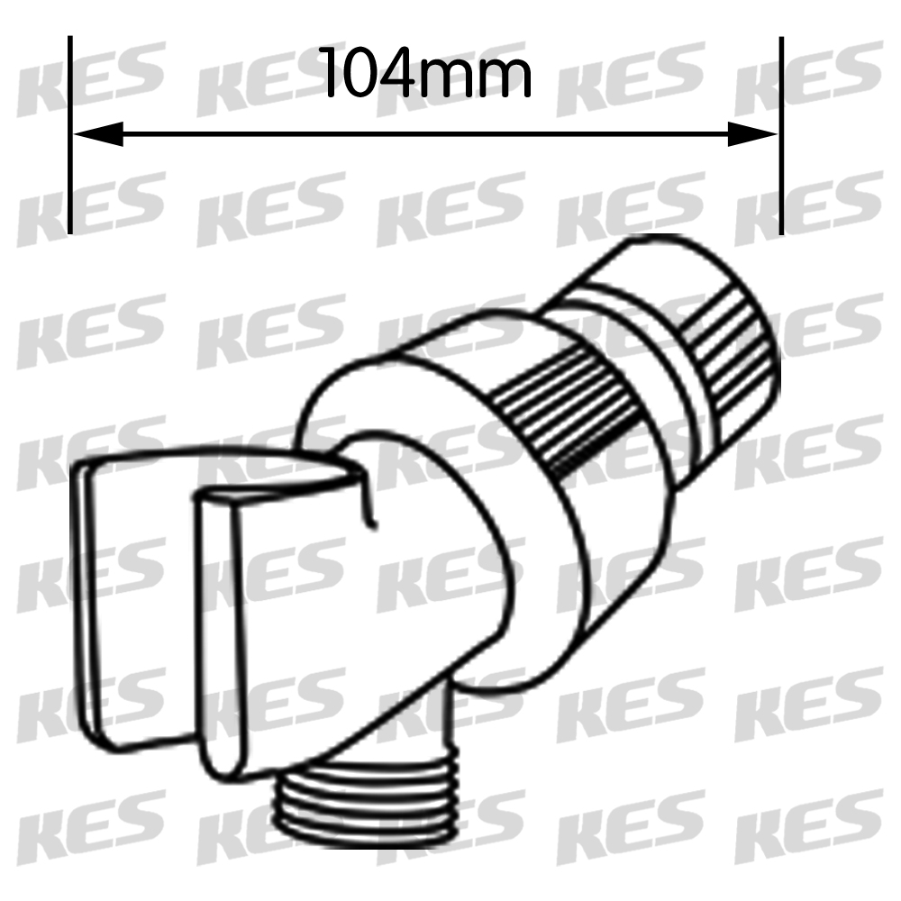Kes Sus304 Stainless Steel Handheld Shower Head With Extra Long Hose