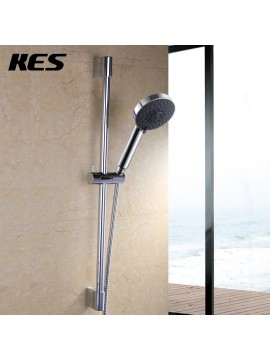 KES F200+KP501B Five Function Massaging Hand Shower Head with Adjustable Slide Bar, Polished Chrome