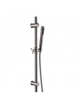 KES F203-2+KP150-2 ALL METAL Single Function Hand Shower Head with Slide Bar Adjustable, Brushed Stainless Steel