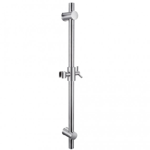 KES F203-2 Stainless Steel Slide Bars with All Brass Handheld Shower Bracket Height and Angle Adjustable, Brushed Steel