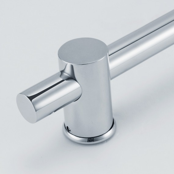 KES F203 Stainless Steel Slide Bars with All Brass Handheld Shower Bracket Height and Angle Adjustable, Polished Steel