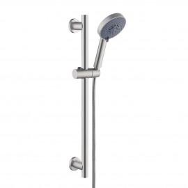 KES Slide Bar with Handheld Shower Head Hand Shower Hose Holder Adjustable 5-Function Massaging Sprayer Brushed Finish, F204-BS+KP501B-BN…