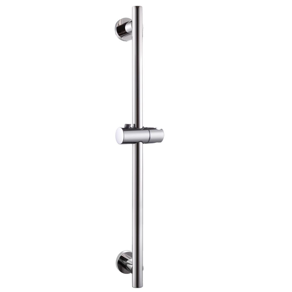 KES Bathroom Adjustable Slider Bar ROUND Wall Mount, Polished SUS304  Stainless Steel, F204