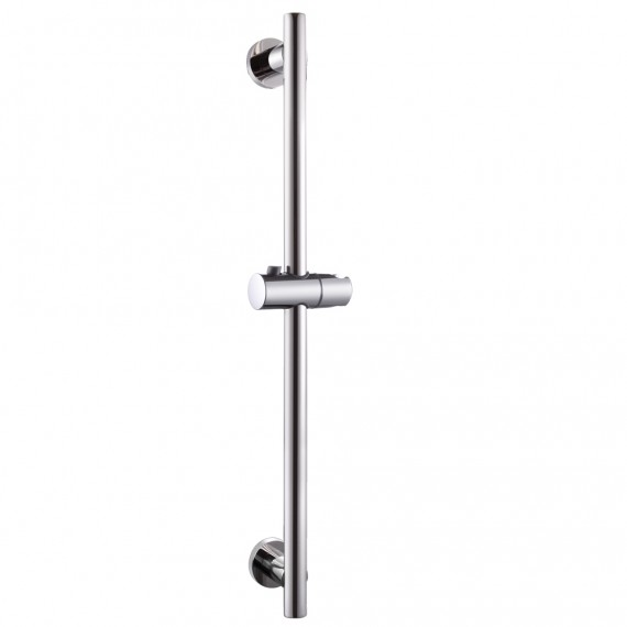 KES Bathroom Adjustable Slider Bar ROUND Wall Mount, Polished SUS304 Stainless Steel, F204