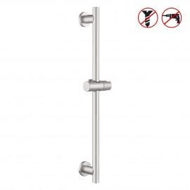 Shower Slide Bar for Bathroom with Adjustable Handheld Shower Holder Wall Mount, Brushed SUS 304 Stainless Steel, F204-2