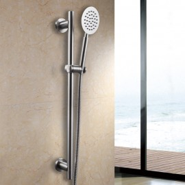 KES ALL Metal SUS304 Stainless Steel Hand Shower Head with Adjustable Slide Bar, Brushed Finish, F205-2+KP151-2
