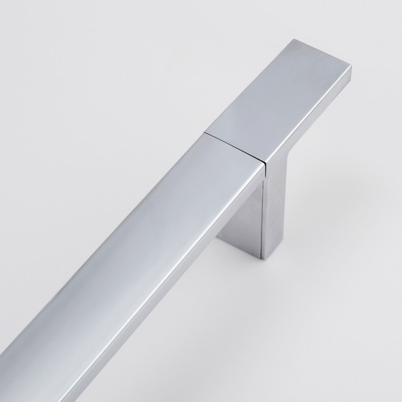 KES F210 Bathroom Square Slide Bar with Adjustable Holder Wall Mounted Contemporary Hotel Style, Chrome
