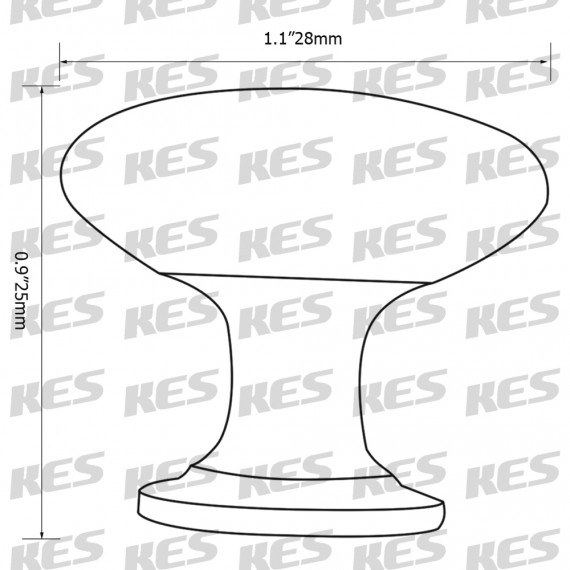 KES HCK300-P25 Cabinet Hardware Round Mushroom Knob Polished Chrome, 25 Pack