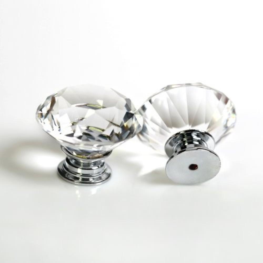 Kes Cabinet Knobs 25 Pack Crystal Glass Dresser Drawer