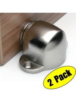 KES SUS304 Stainless Steel Magnetic Doorstop/Door with Catch Screw Mount 2 Pack or 1 Pair, Brushed Finish, HDS202-2-P2