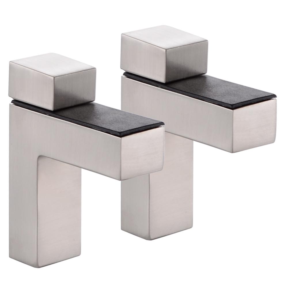 Kes Hsb301a 2 P2 Solid Metal Adjustable Wood Glass Shelf
